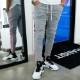 RESOUND CLOTHING パンツ Blind LINE PT BASIC-ST-008 GREYxPINK