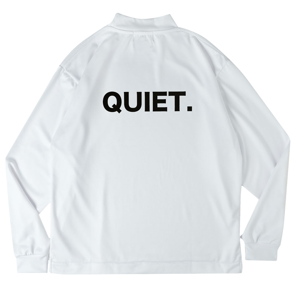 BANDEL ロンT QUIET BACK PRINTL/S MOC TEE BG-QTML001 WHITExBLACK