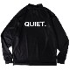 BANDEL ロンT QUIET BACK PRINTL/S MOC TEE BG-QTML001 BLACKxWHITE