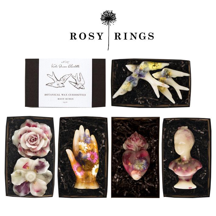 ROSY RINGS ボタニカルワックス キュリオシティ ブラックベリー & ウード