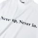 BANDEL ロンT Never up, Never in FRONT PRINT L/S MOC TEE BG-NUML001 WHITExBLACK