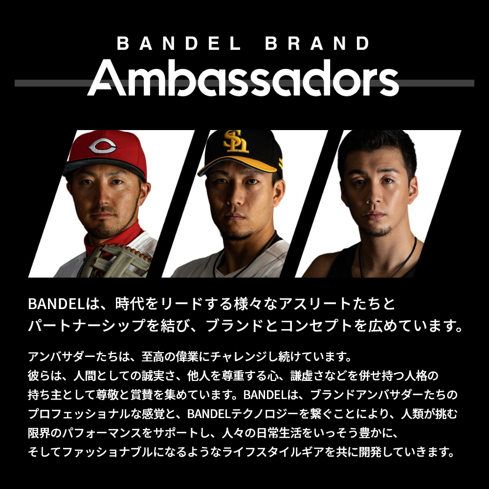 BANDEL 磁気ネックレス Healthcare Line NEUTRAL WHITExGOLD