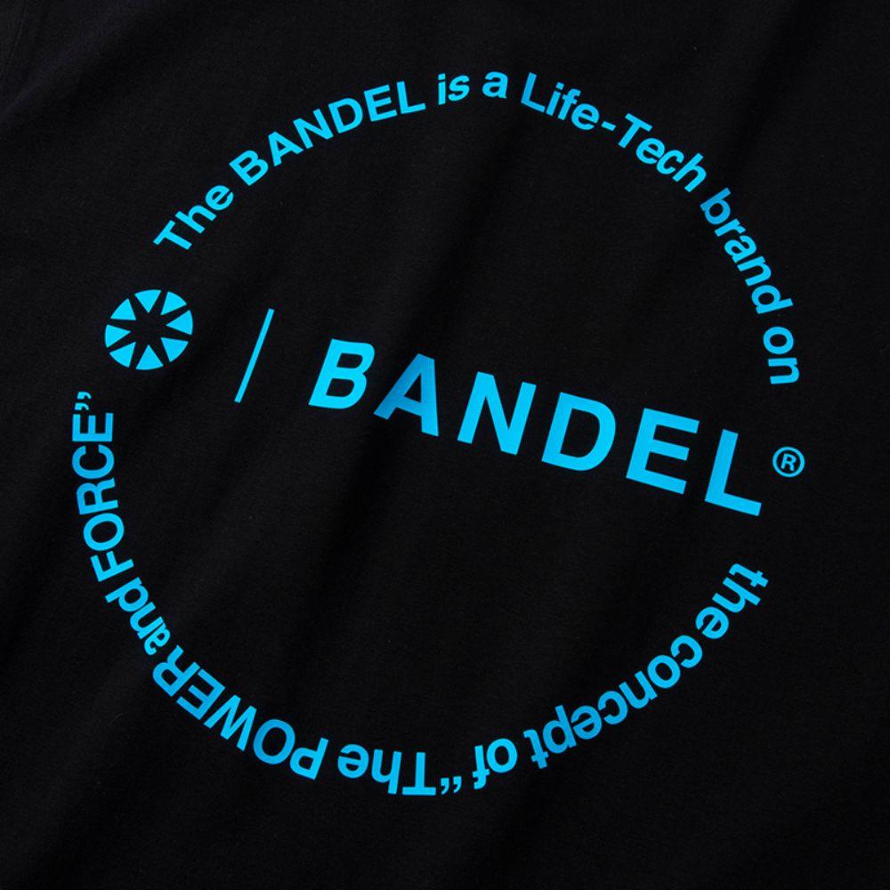 BANDEL Tシャツ Circle-Logo Short Sleeve T BAN-T023 Black x Neon Blue