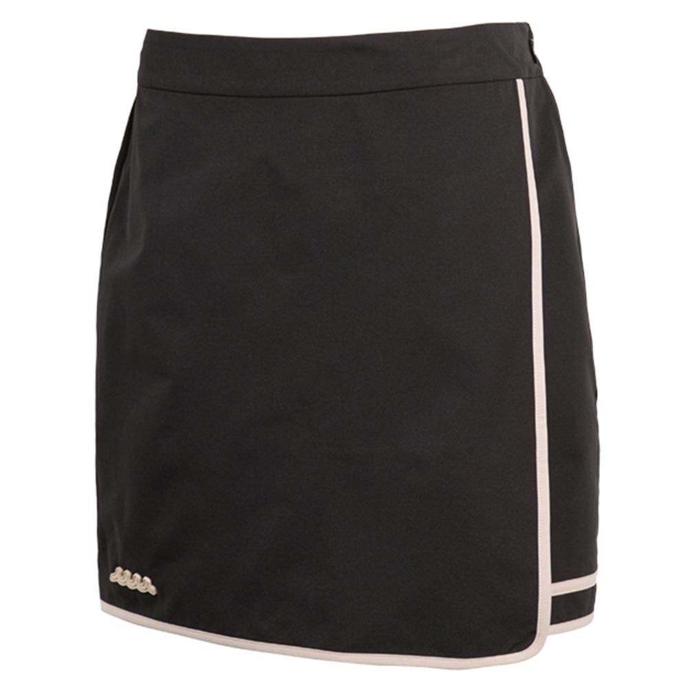 muta MARINE パイピングラップスカート MMBC-200832 BLACK