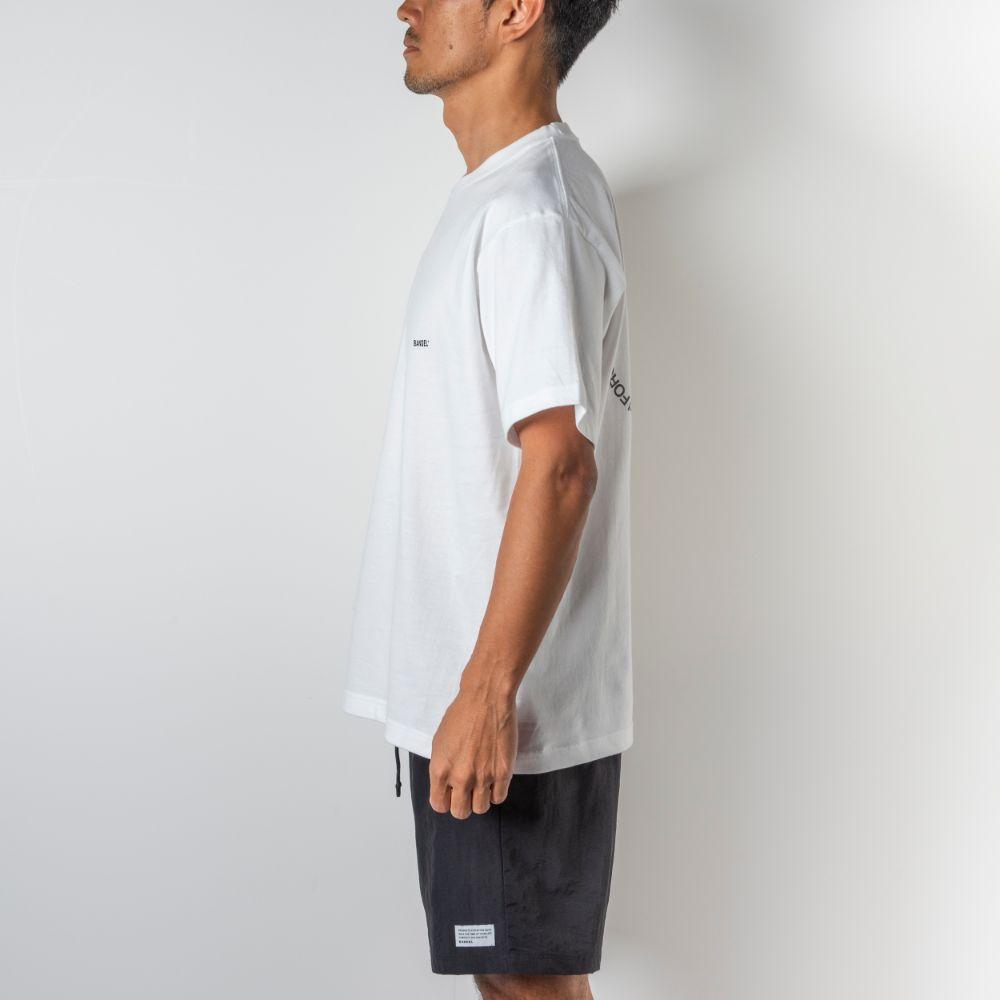 BANDEL Tシャツ Circle-Logo Short Sleeve T BAN-T023 White x Black