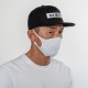 BANDEL マスク AW 3D Design Mask Staple Logo White×White