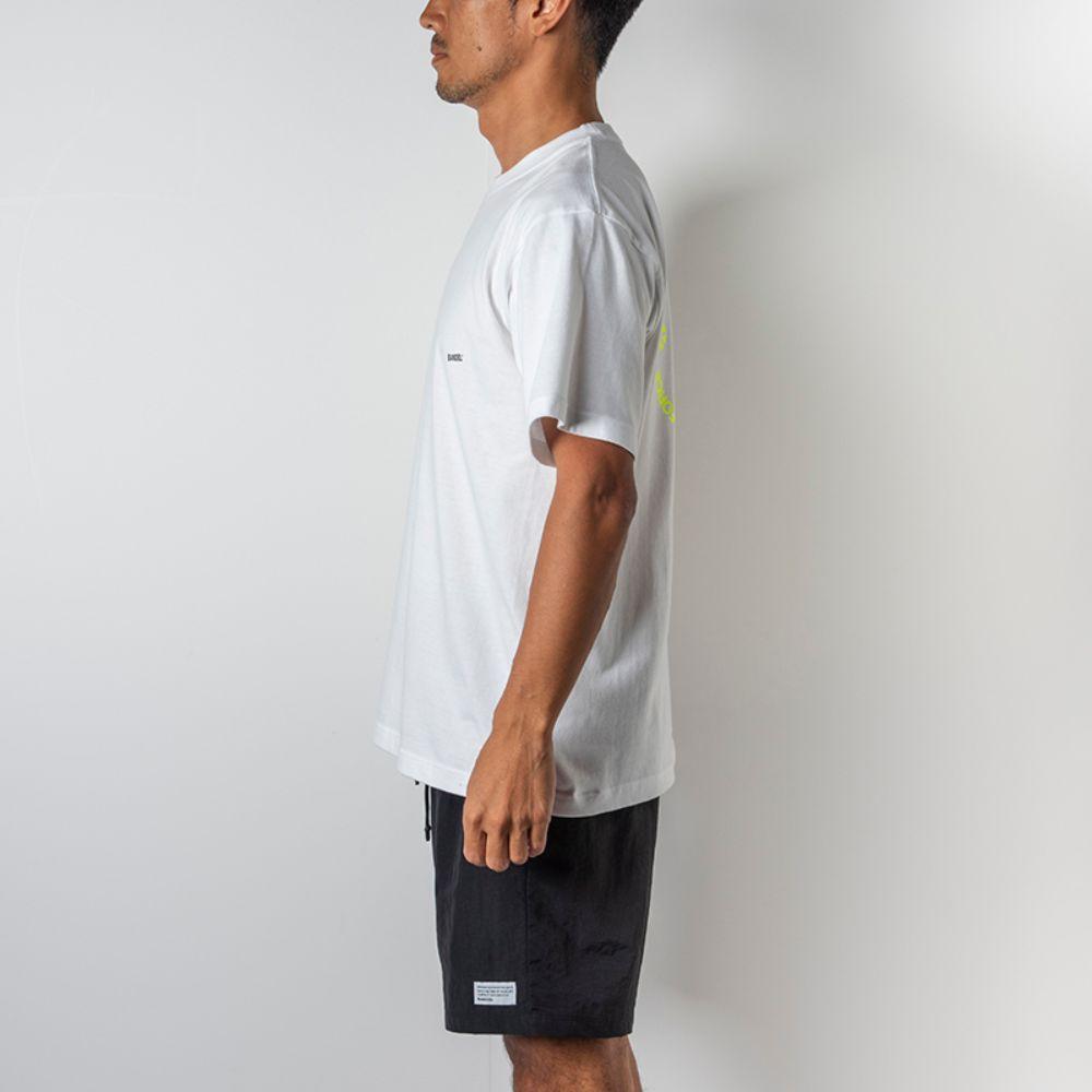 BANDEL Tシャツ Circle-Logo Short Sleeve T BAN-T023 White x Neon Yellow