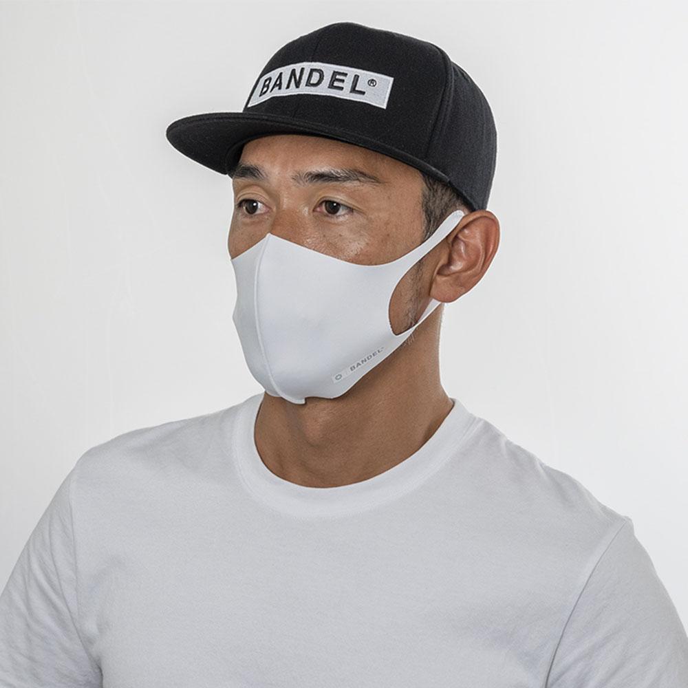 BANDEL マスク AW 3D Design Mask Staple Logo White×Grey