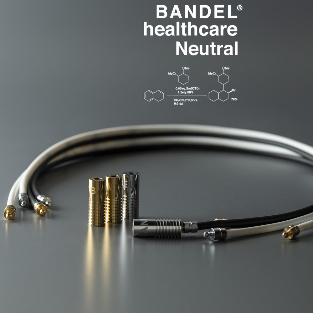 BANDEL 磁気ネックレス Healthcare Line NEUTRAL BLACKxGOLD