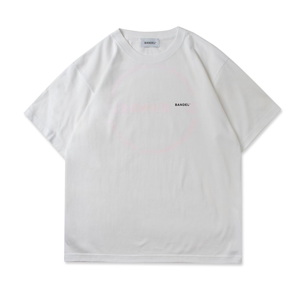 BANDEL Tシャツ Circle-Logo Short Sleeve T BAN-T023 White x Neon Pink