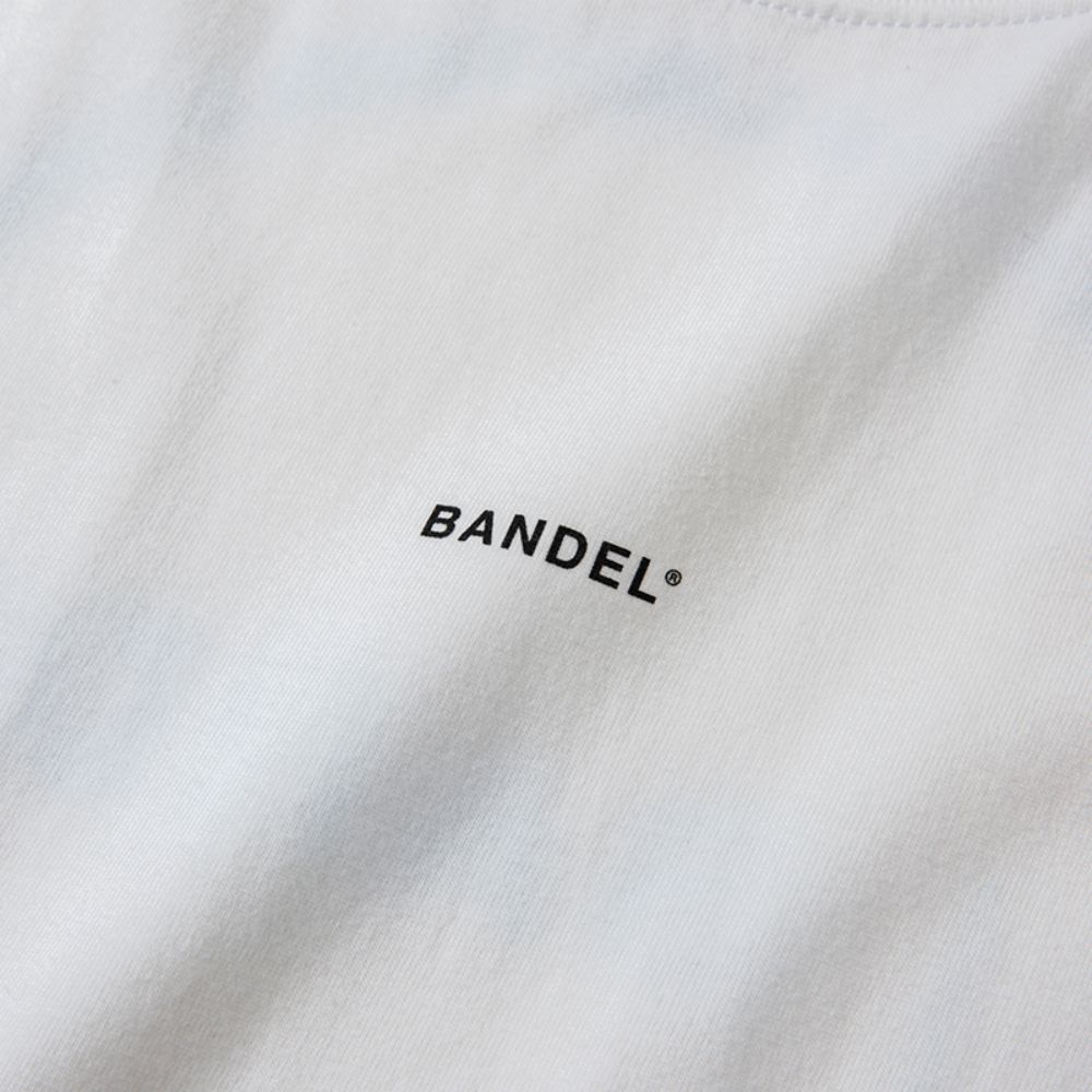 BANDEL Tシャツ Circle-Logo Short Sleeve T BAN-T023 White x Neon Pink