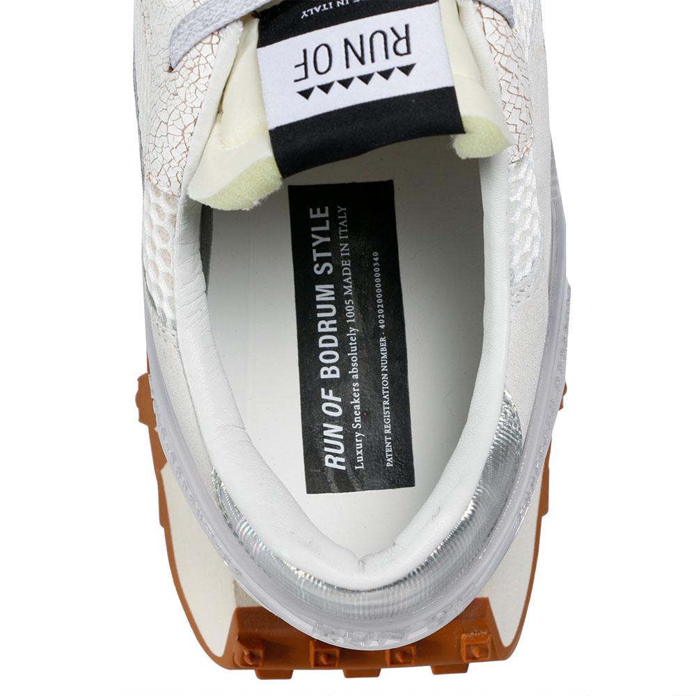 RUN OF スニーカー White Man Tech RUNS024 BIANC/BASE BEIGE