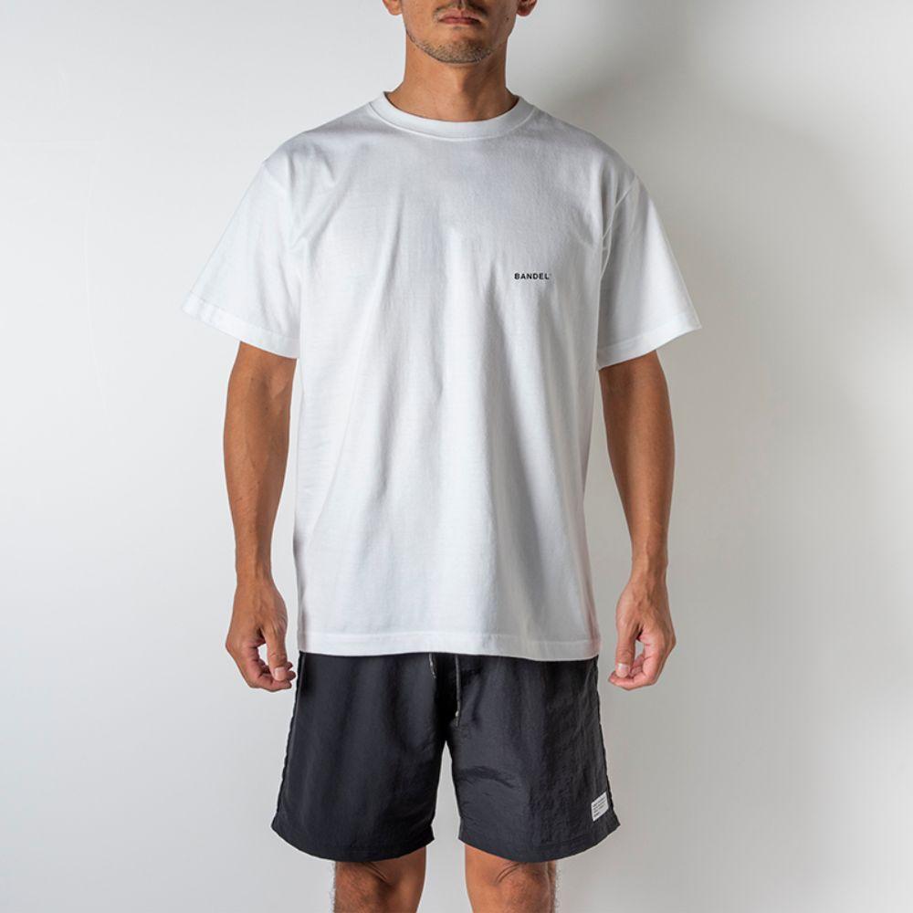 BANDEL Tシャツ Circle-Logo Short Sleeve T BAN-T023 White x Neon Orange