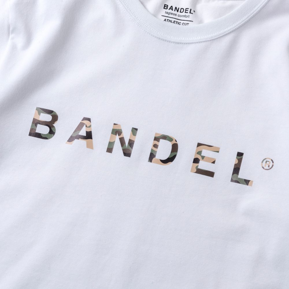 BANDEL ロンT Camofrage Logo BAN-LT017 White
