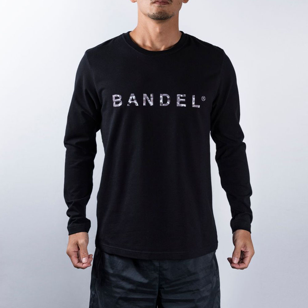 BANDEL ロンT Geometry Camo Logo BAN-LT018 Black