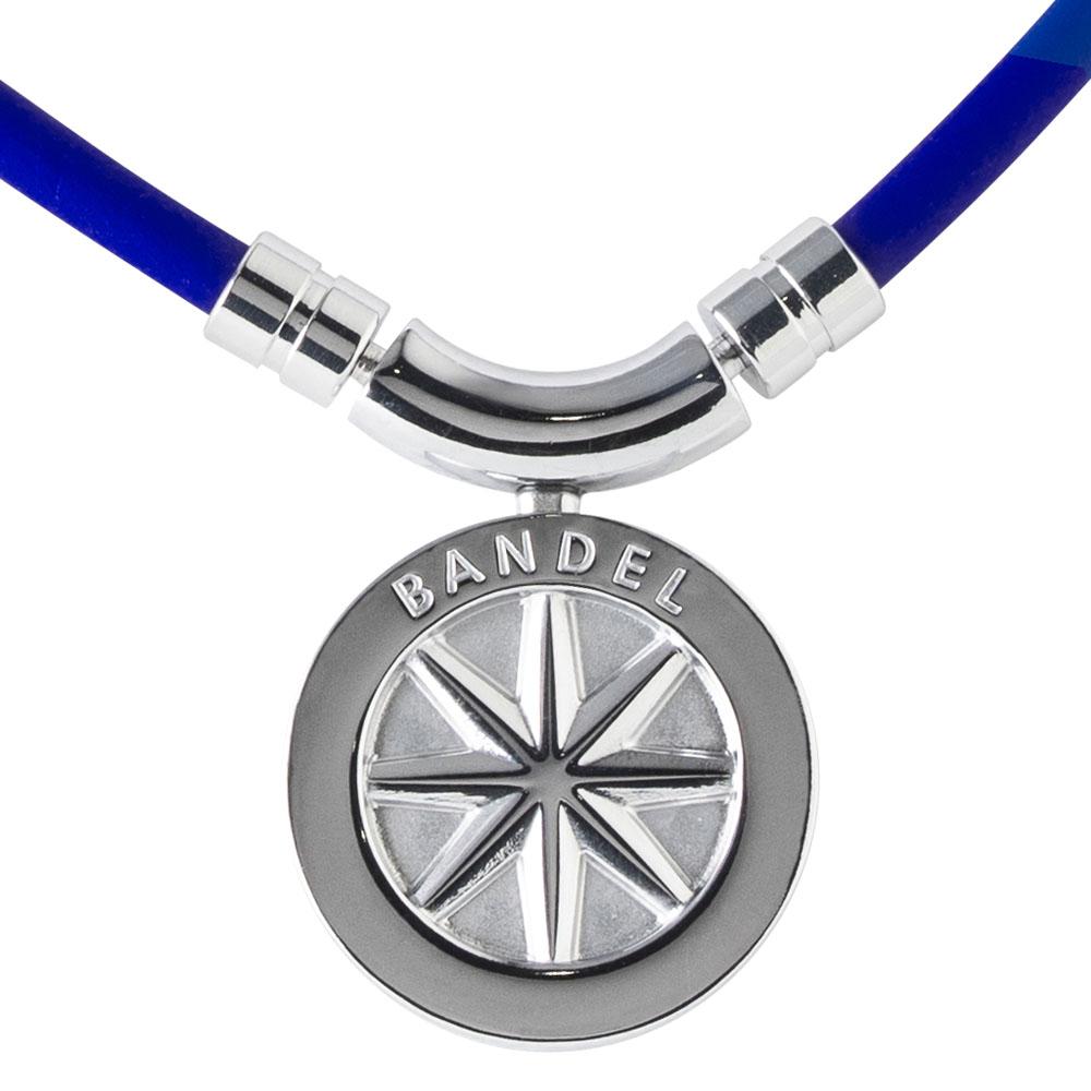 BANDEL 磁気ネックレス Healthcare Line Earth Blue x Silver