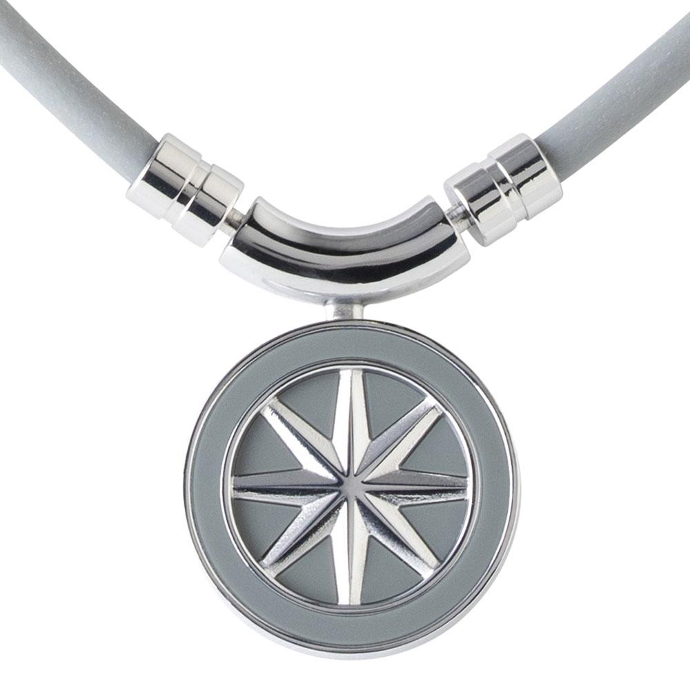 BANDEL 磁気ネックレス Healthcare Line Earth Grey x Silver