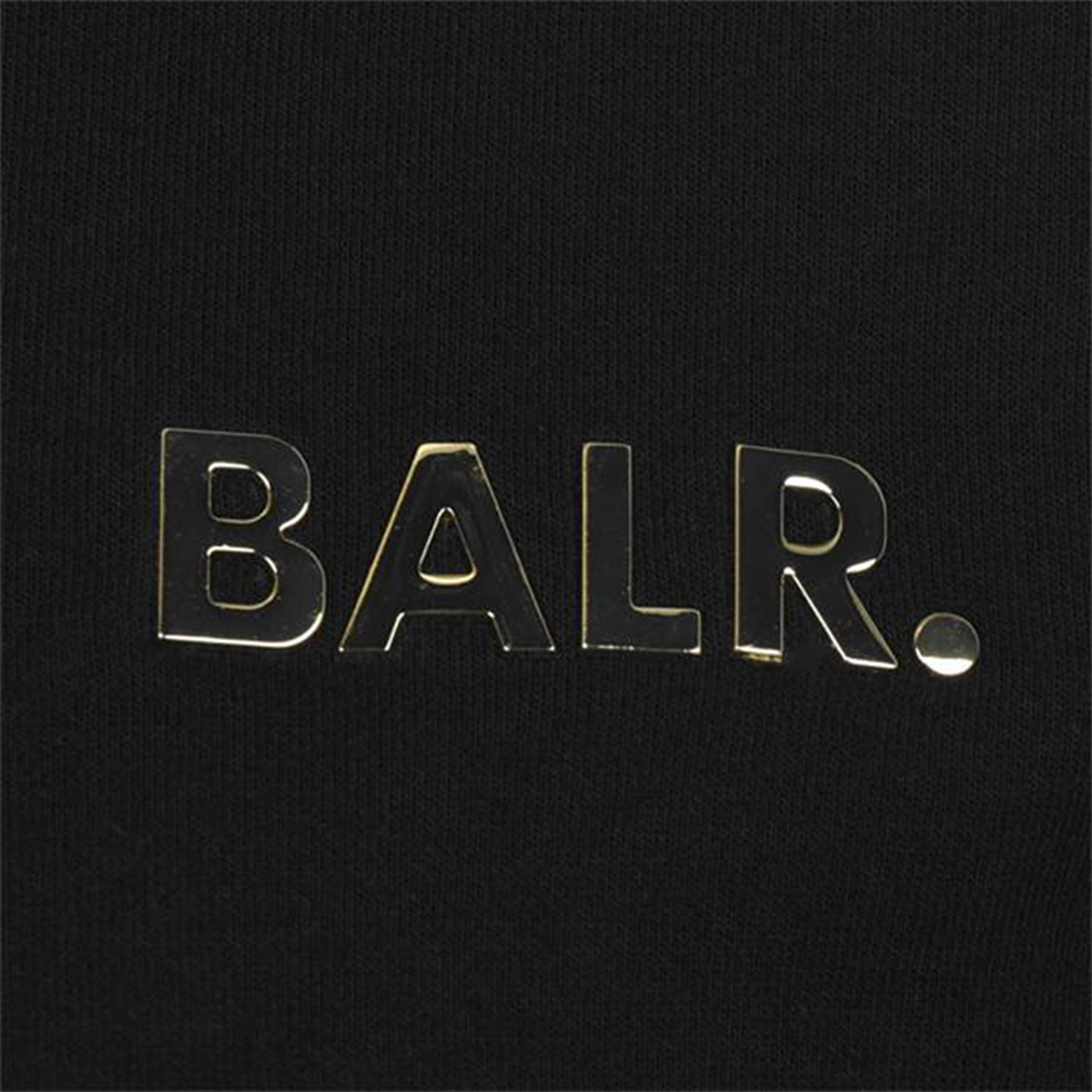 BALR. ジップフーディー Q-SERIES STRAIGHT ZIP THRU BLACKxGOLD