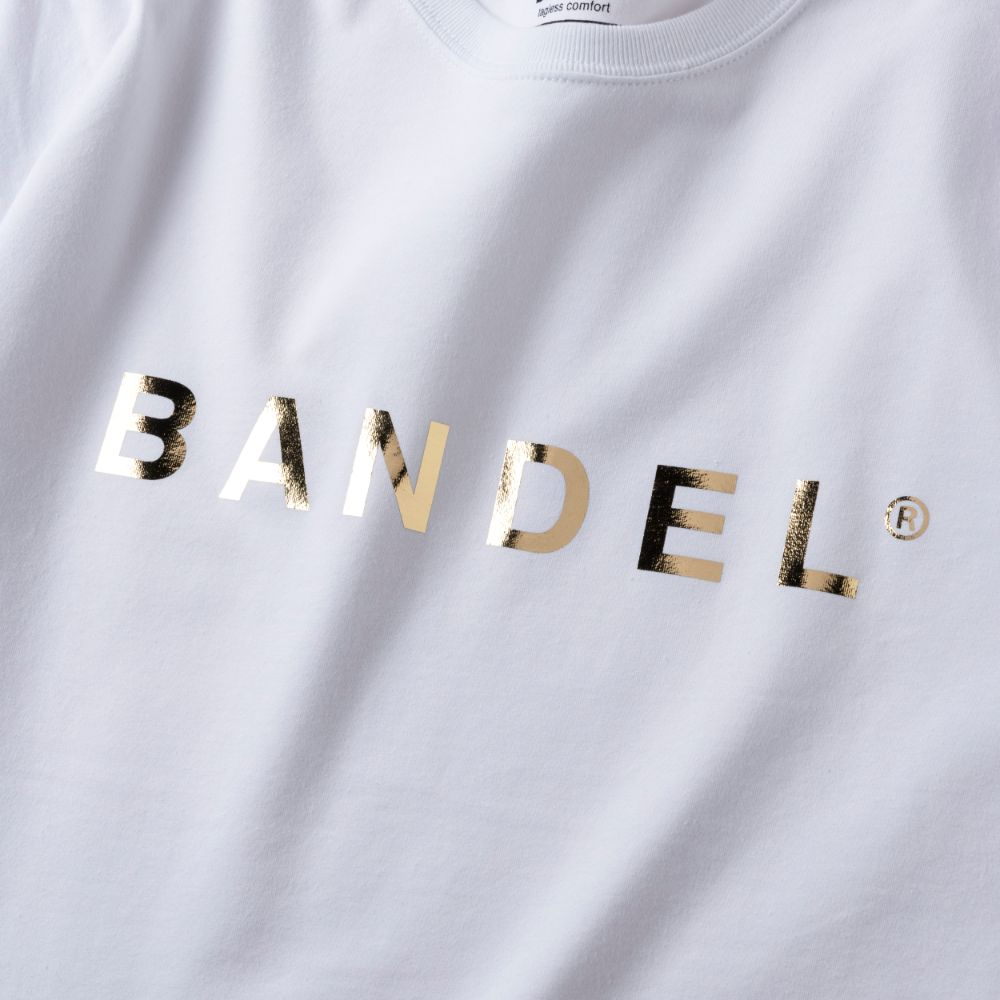 BANDEL ロンT Gold Logo BAN-LT019 White