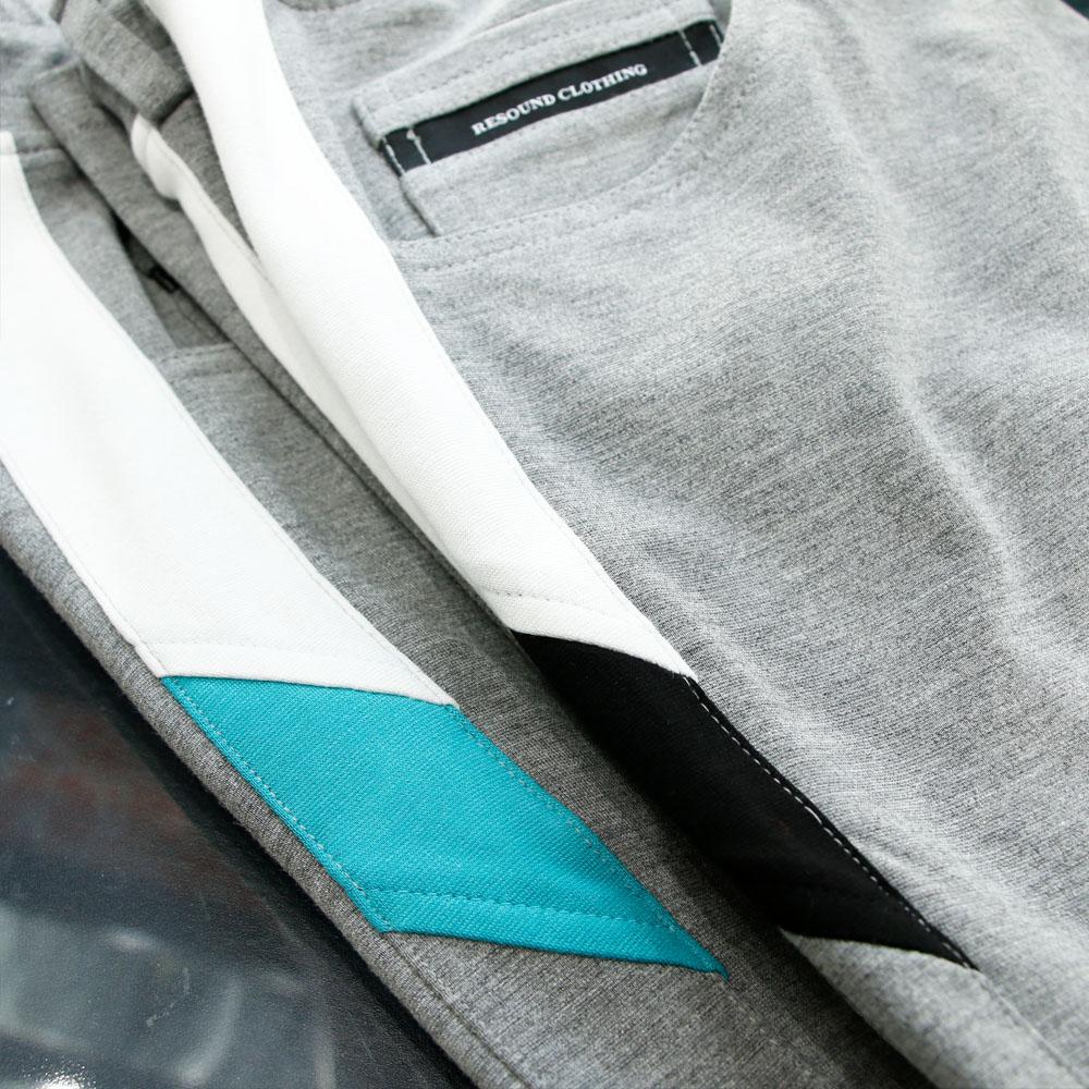 RESOUND CLOTHING パンツ EDWARD LINE PT RC19-ST-011 GREYxBLACK