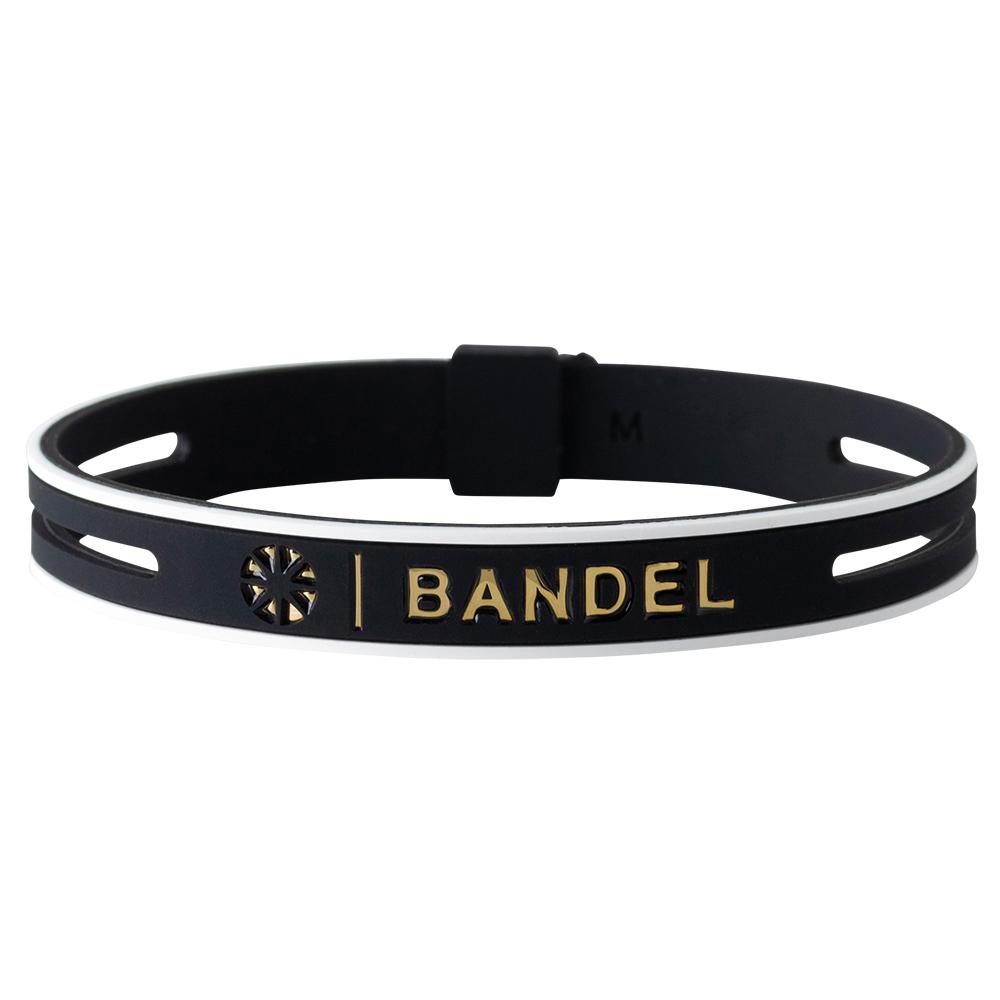 【予約】BANDEL ブレスレット String Metallic BLACKxGOLD