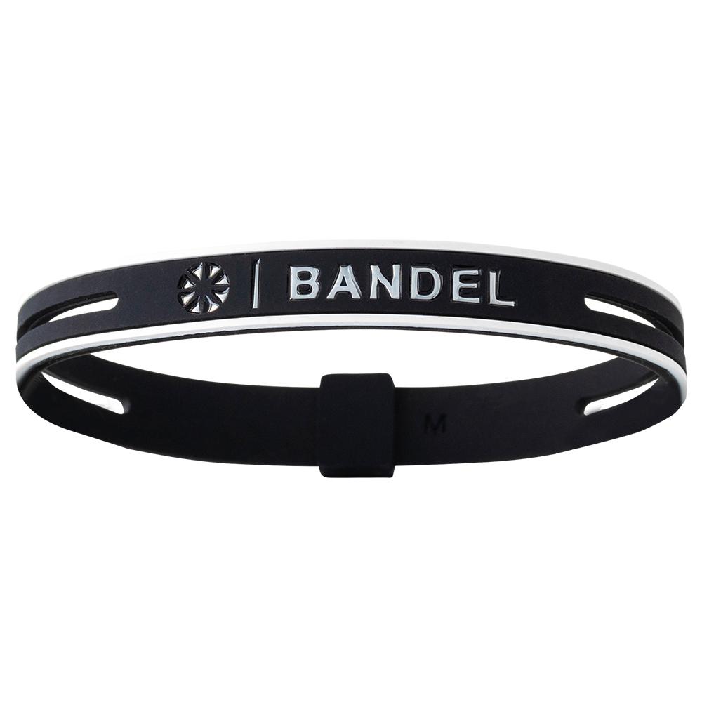 BANDEL ブレスレット String Metallic BLACKxSILVER