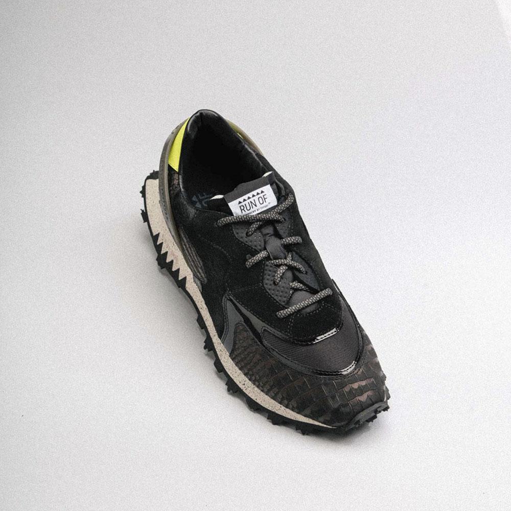 RUN OF ランオブ スニーカー BLACK MAMBA RUN20 BLACK