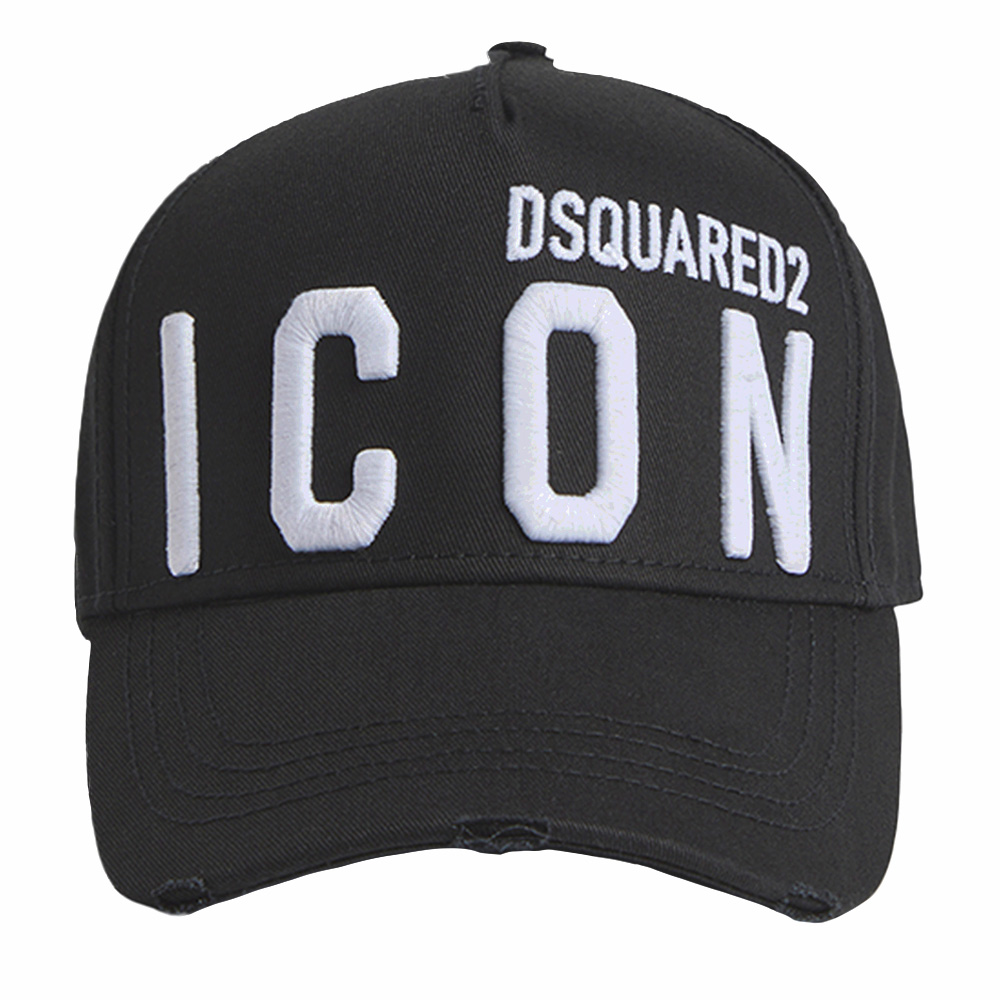 DSQUARED2 キャップ Icon Baseball Cap BCM0412 05C00001 BLACK