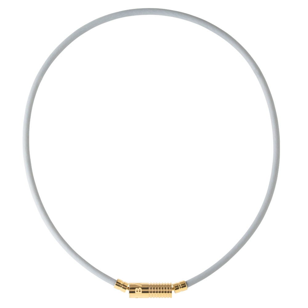 BANDEL 磁気ネックレス Healthcare Line Neutral Grey x Gold