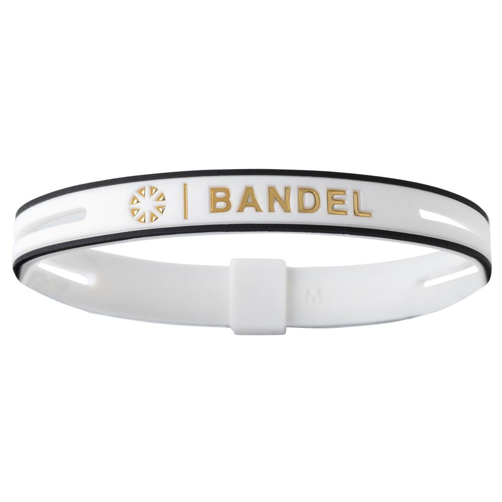 BANDEL ブレスレット String Metallic WHITExGOLD