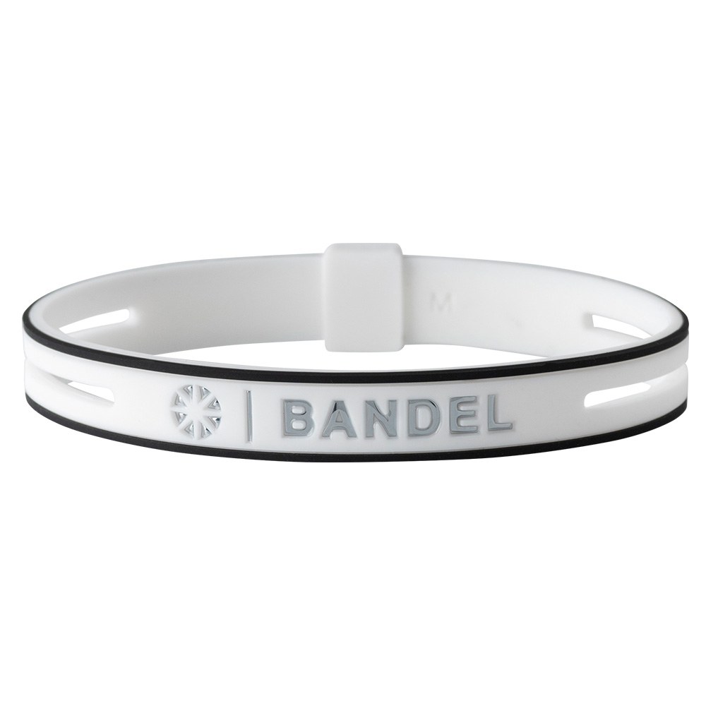 【予約】BANDEL ブレスレット String Metallic WHITExSILVER