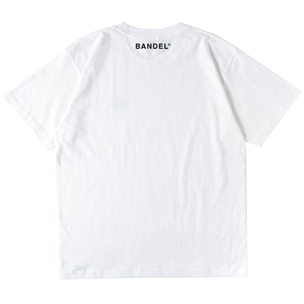 BANDEL 抗菌・防臭機能Tシャツ #stayhome S/S TEE BAN-T017 WHITE