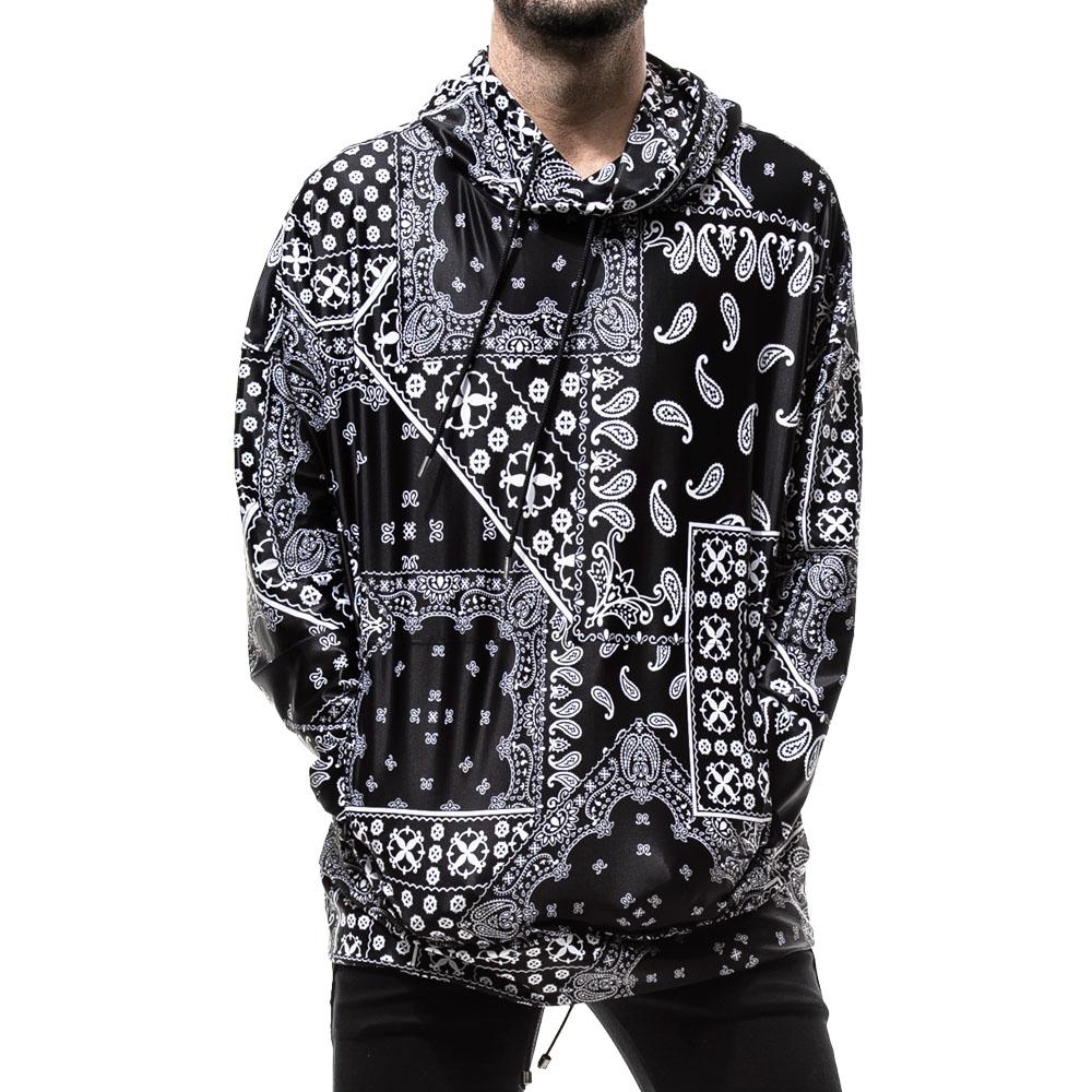 【予約】RESOUND CLOTHING ラッシュフーディー BANDANA RUSH RC19-C-003 BLACKxWHITE