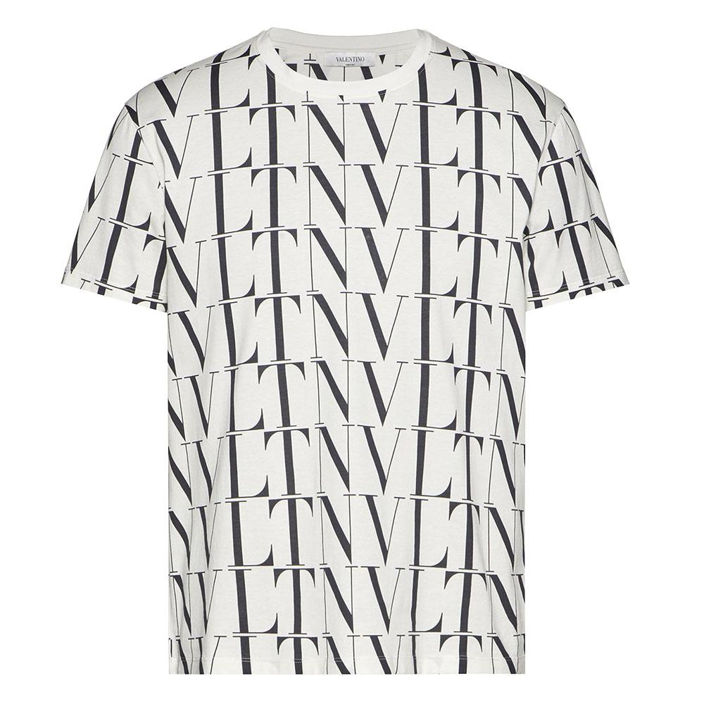 VALENTINO Tシャツ WITH VLTN TIMES PRINT  BIANCO/VLTN TIMES NERO