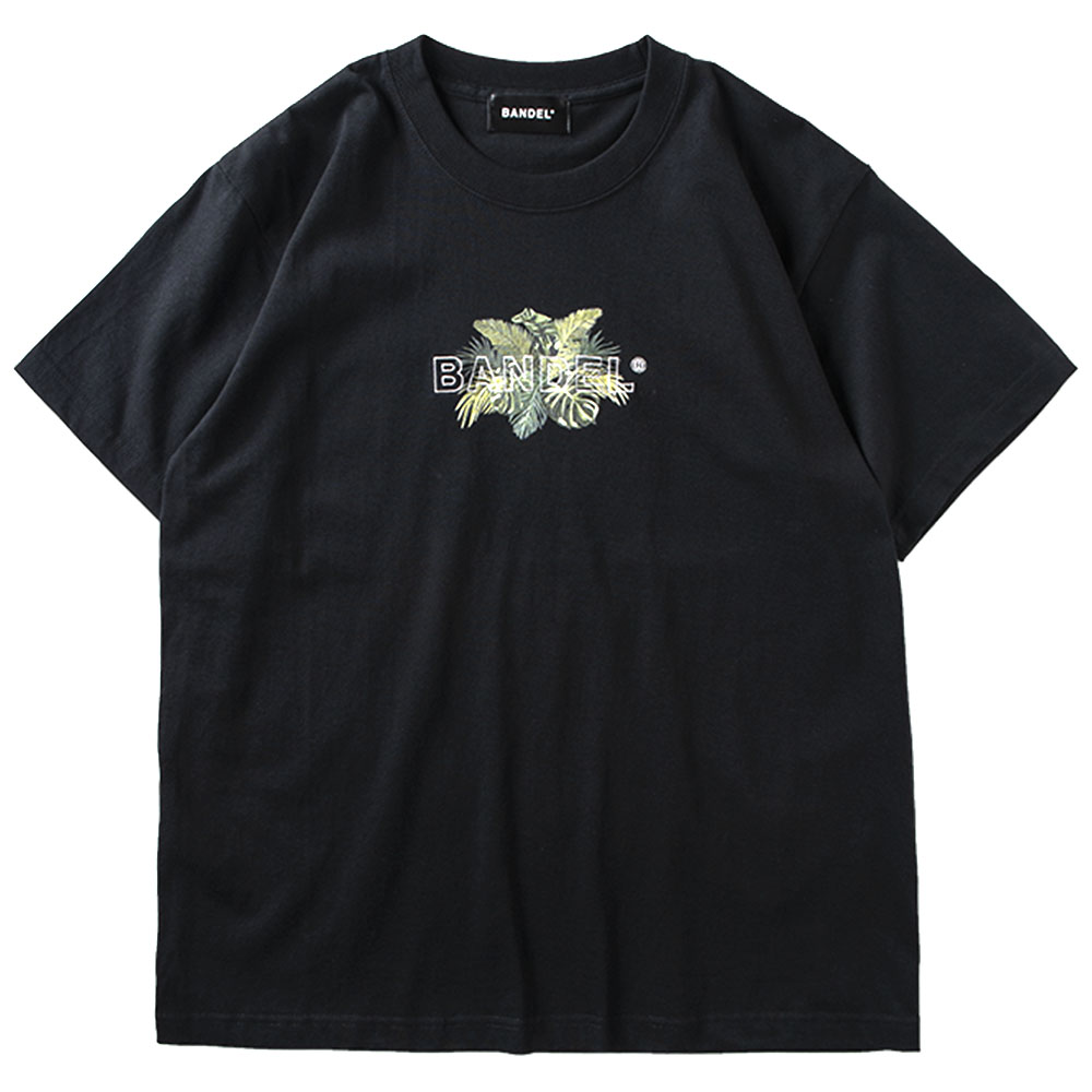 BANDEL バンデル Tシャツ S/S T Botanical Embroidery Logo BAN-T019 Black