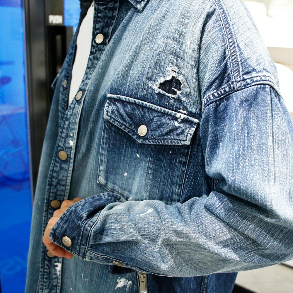 RESOUND CLOTHING シャツ OVER DENIM shirts REMAKE