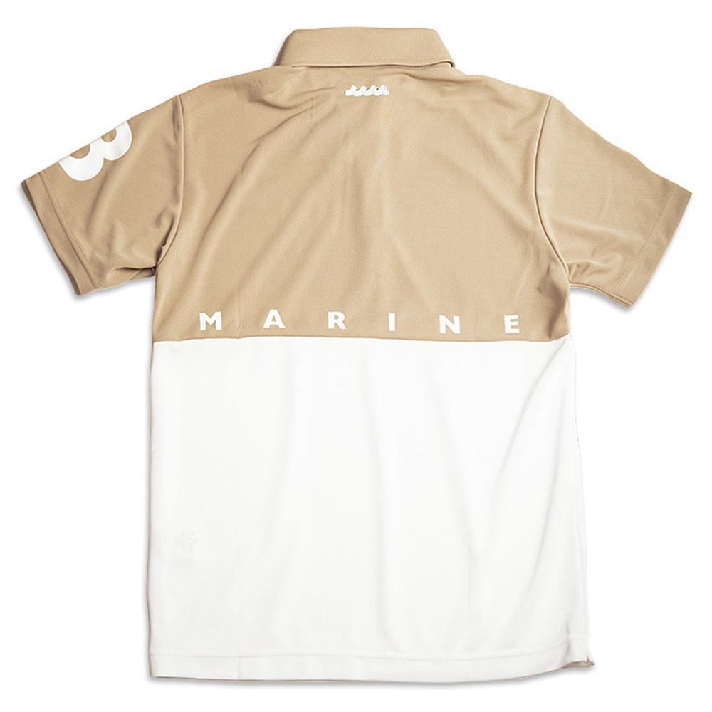 muta MARINE ポロシャツ バイカラー MMポロ MMMP-446095 BEIGExWHITE