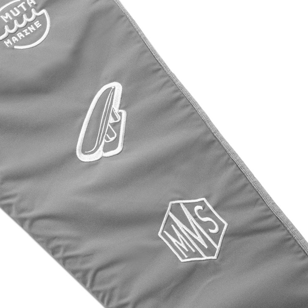 muta MARINE パンツ ナイロン切替ロゴ ボンディングスラックス MMBC-210208 GREY