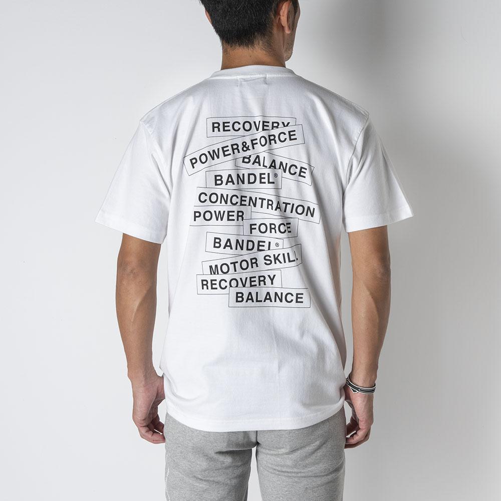 BANDEL バンデル Tシャツ S/S T Random Logo BAN-T020 White