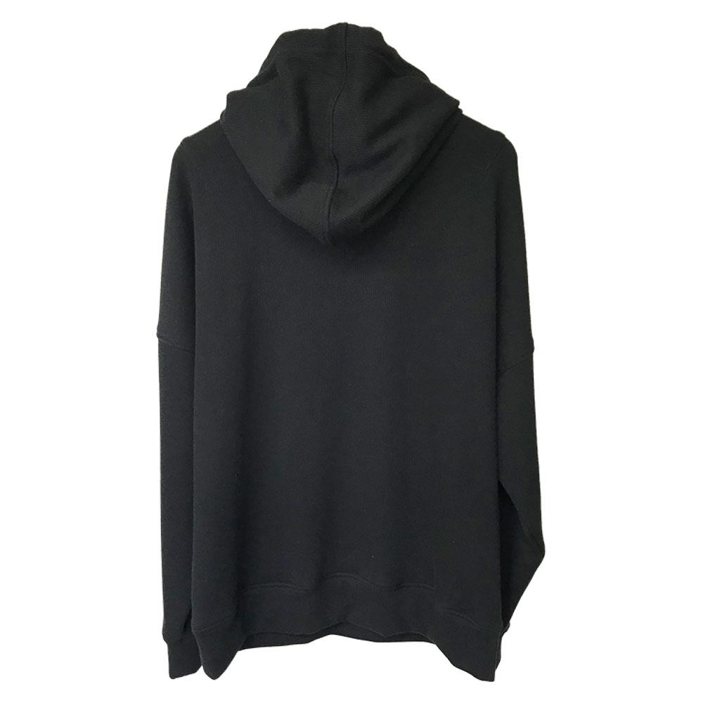 RESOUND CLOTHING フーディー shaggy fleece rib thermal Hoodie RC18-C-003 BLACK