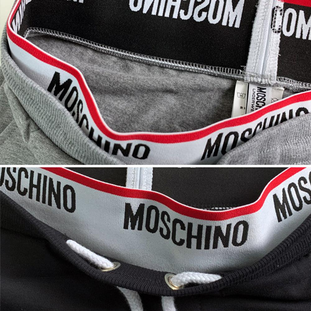 MOSCHINO スウェットパンツ A4313 ウエストロゴ BLACK