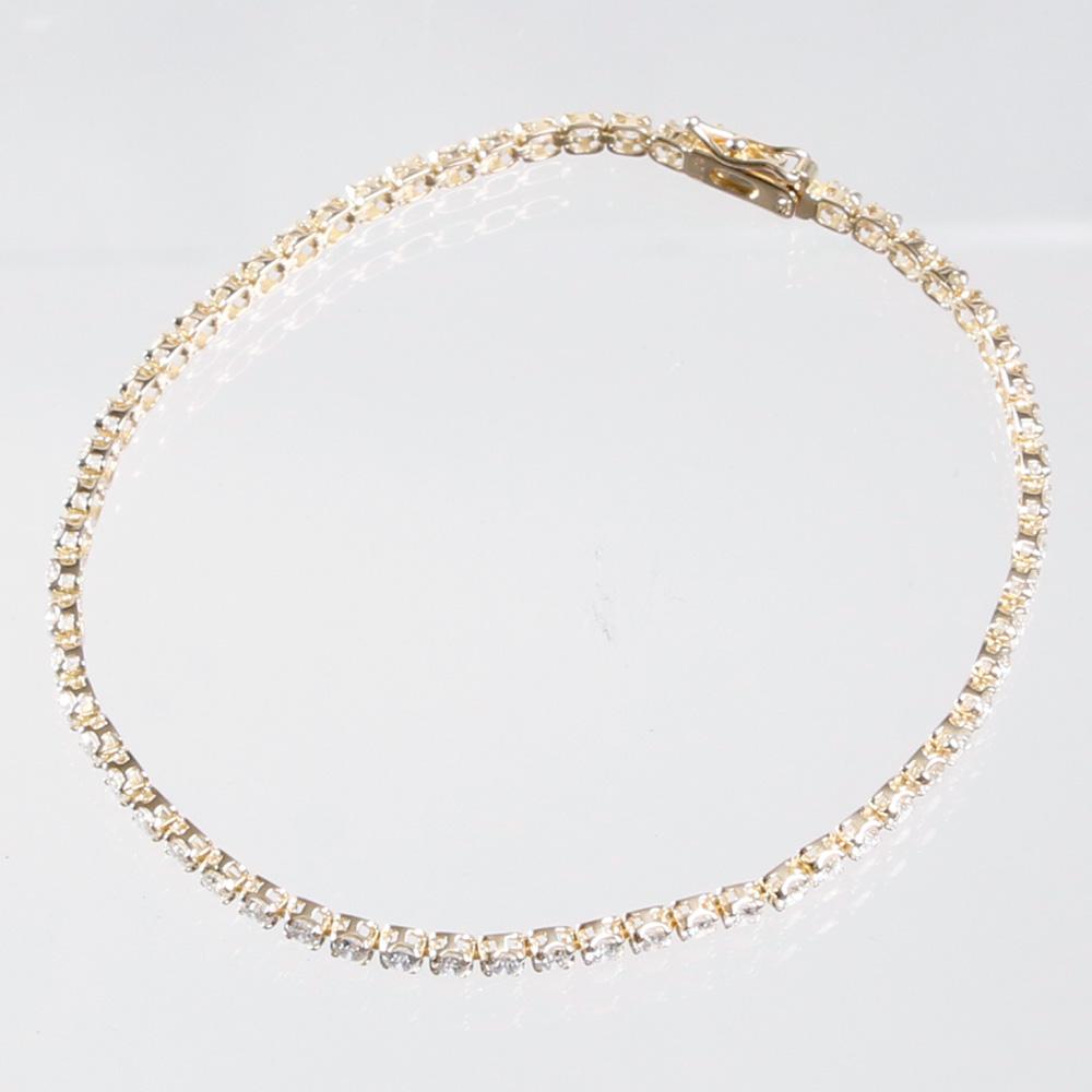 THE BRACELET ブレスレット K18ダイヤ テニスブレス 17cm YELLOW GOLD
