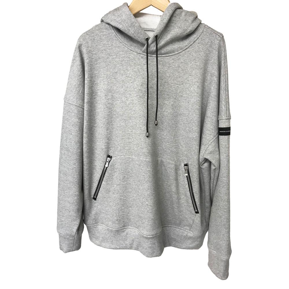 RESOUND CLOTHING フーディー shaggy fleece rib thermal Hoodie RC18-C-003 GREY