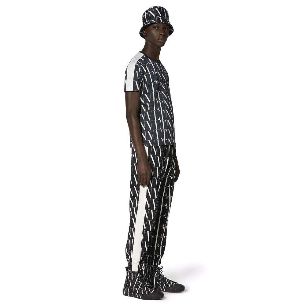 VALENTINO Tシャツ WITH VLTN TIMES PRINT NEROxVLTN BIANCO
