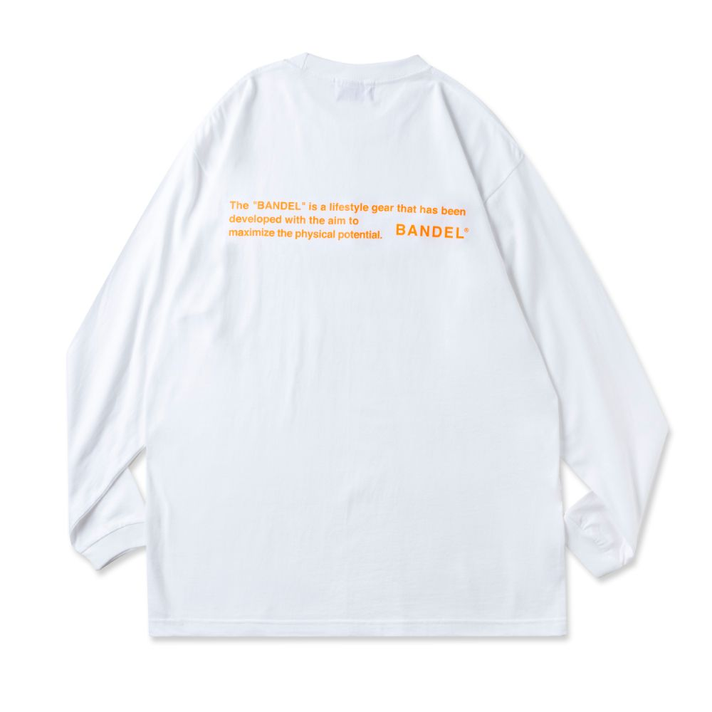 BANDEL ロンT GHOST Concept Note BAN-LT022 White×NeonOrange