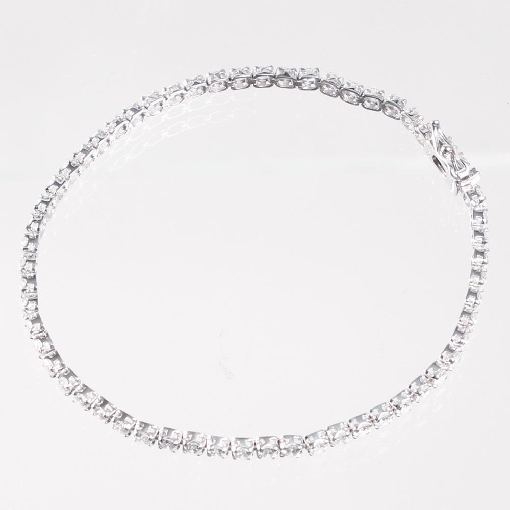 THE BRACELET ブレスレット K18ダイヤ テニスブレス 16cm WHITE GOLD