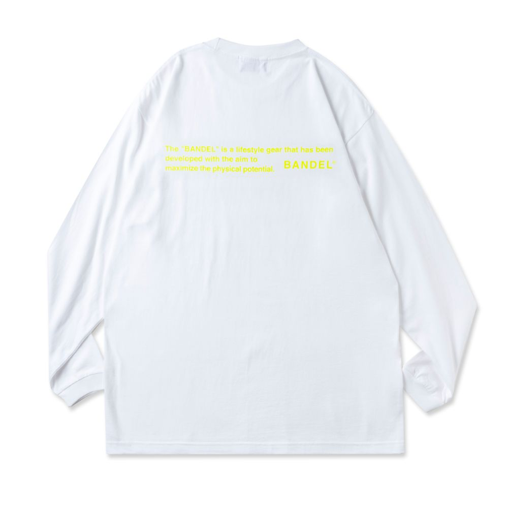 BANDEL ロンT GHOST Concept Note BAN-LT022 White×NeonYellow