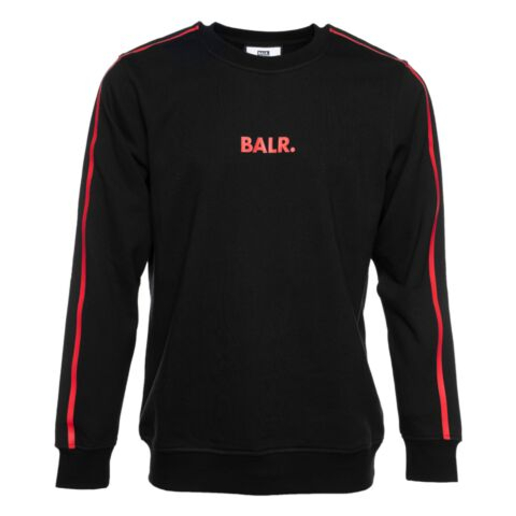 BALR. スウェット TAPED STRAIGHT CREW NECK B10291 BLACK