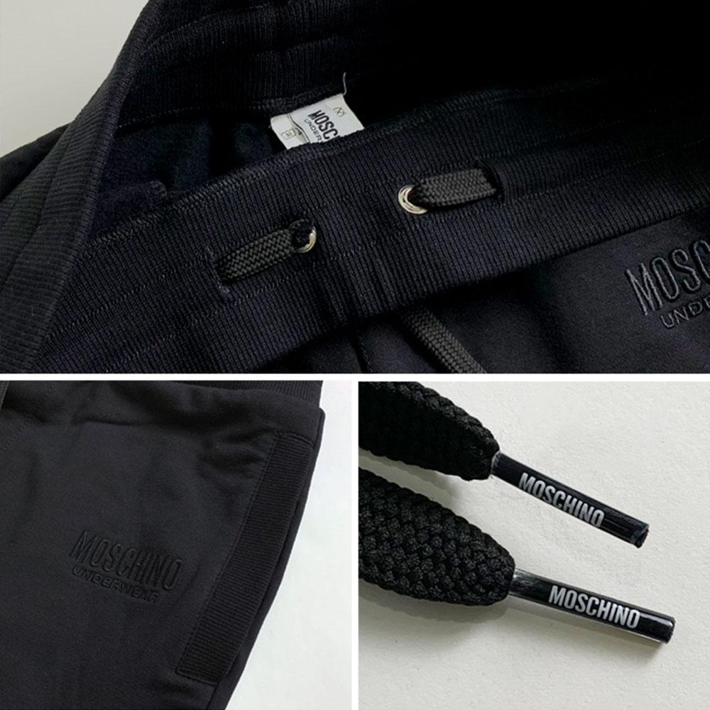MOSCHINO スウェットパンツ A4305 BLACK