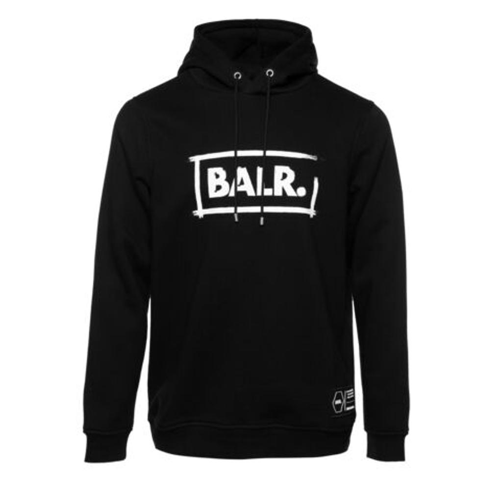 BALR. フーディー CHALK STRAIGHT HOODIE B10361 BLACK